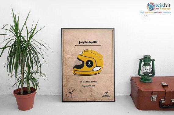 Légendes de la moto / Isle of Man TT Moto classique rétro Print/Poster.  De haute qualité.