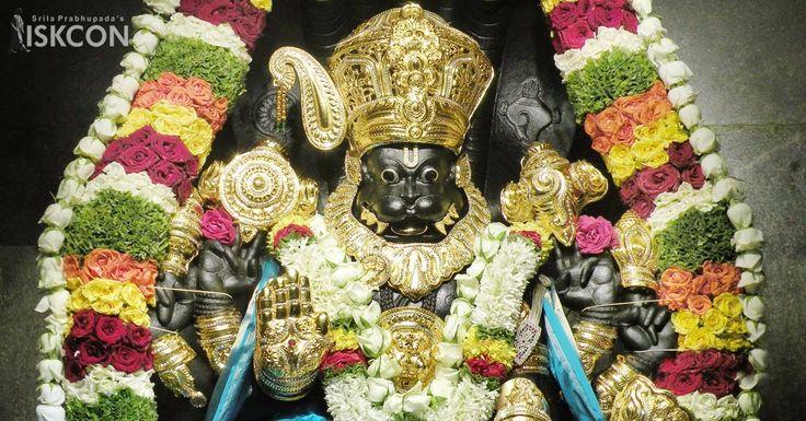 Download Sri Narasimha Ashtottara Shata Namavali and read it aloud every day to seek the blessings of Sri Lord Narasimhadeva - http://bit.ly/2pvatrpn#narasimhajayanti #narasimha #jayanti #iskcon #iskconbangalore #bangalore #religion #hindu #srila #instadaily #instagood