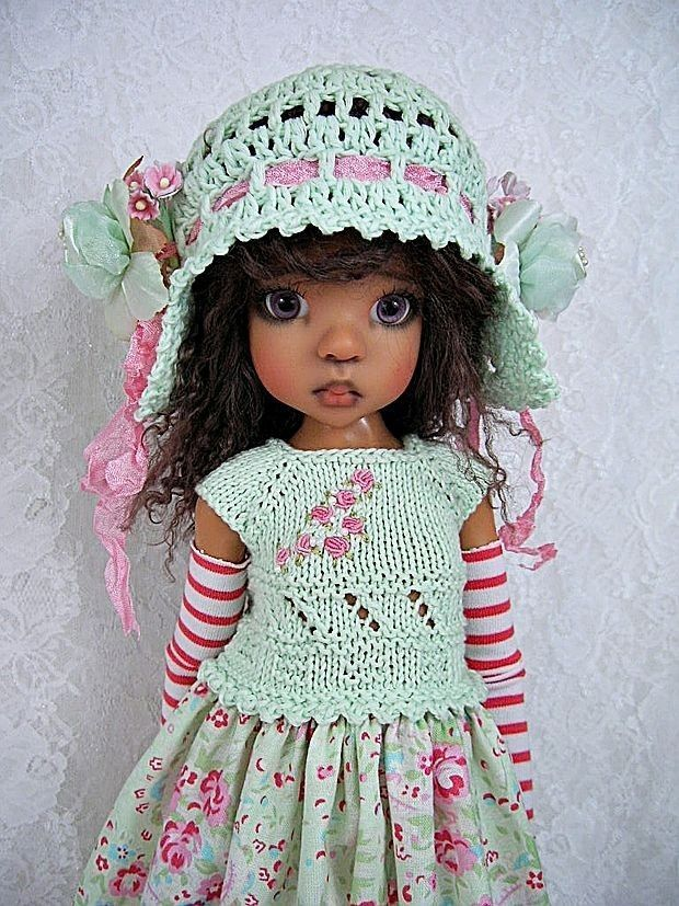 "Rose Paisley Outfit for Kaye Wiggs' MSD size BJD 18""  Doll Layla , made by Ulla"