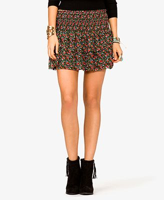 Floral Print Tiered Skirt | FOREVER21 - 2021796168