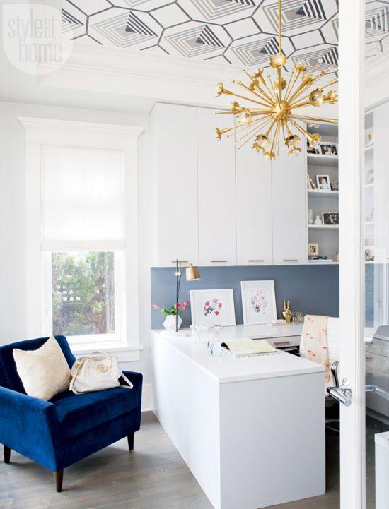 A talented design team creates a glam home office {PHOTO: Barry Calhoun}