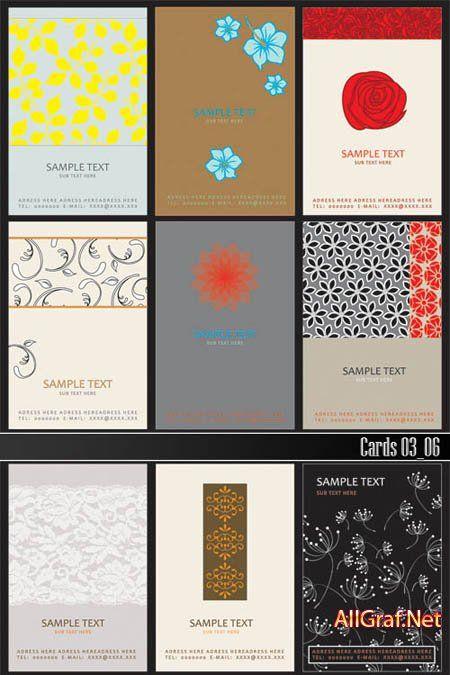 (Визитки) Шаблоны визиток 03_06 скачать бесплатно