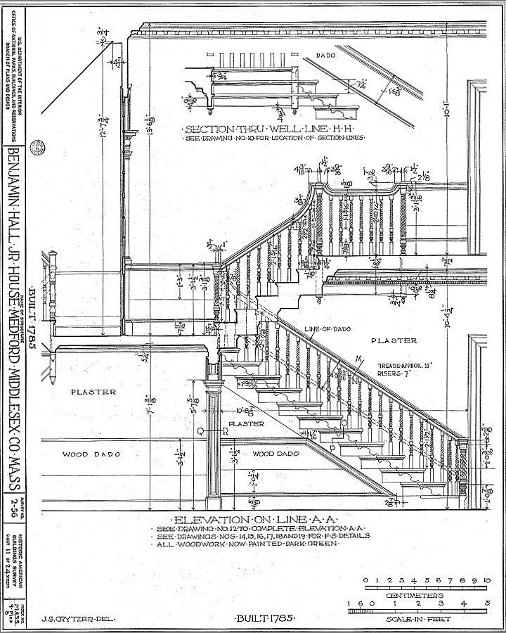 how to draw stairs in plan