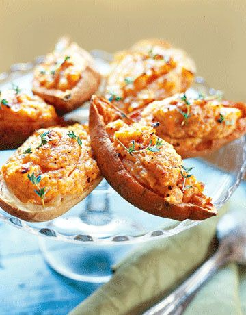 These Double-Stuffed Potatoes are a unique take on the classic.