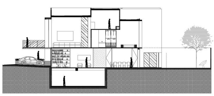 cortes arquitectonicos de casas a mano - Buscar con Google