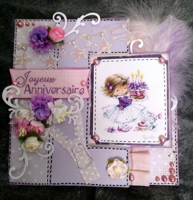 1000 id es propos de cartes d 39 anniversaire de fille sur pinterest cartes d 39 anniversaire - Carte anniversaire petite fille ...