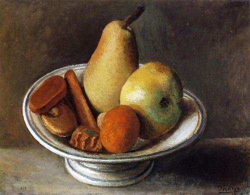 pablopicasso-art:   Fruit Bowl With Fruit   1918   Pablo...