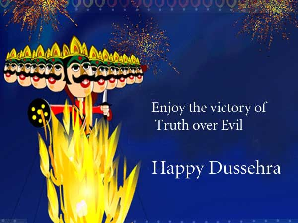 Happy Dussehra Images Greetings e-cards Ravana Fireworks Videos Photos Whatsapp FB DP 2015 dussehra celebration wishes wallpapers hd pictures pics clips arts.