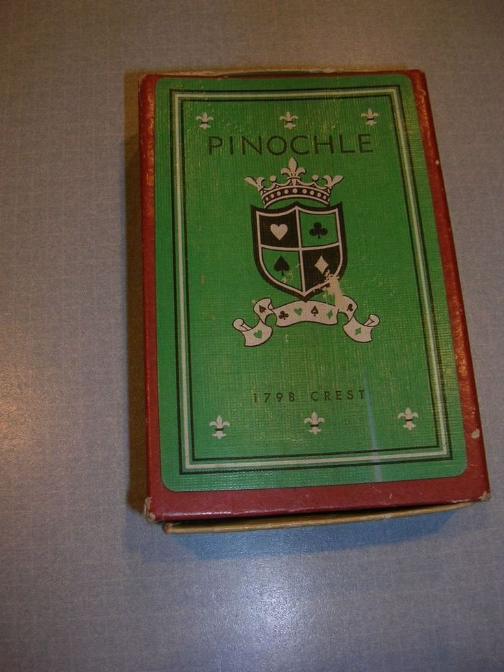 Vintage Imperial Pinochle Cards - preowned - 1798 Crest complete #Imperial