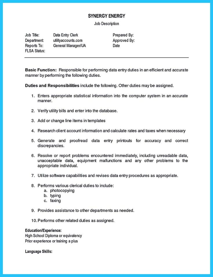nice Perfect Data Entry Resume Samples to Get Hired, Check more at http://snefci.org/perfect-data-entry-resume-samples-get-hired