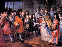 Marriage - An arranged marriage between Louis XIV of France and Maria Theresa of Spain.
