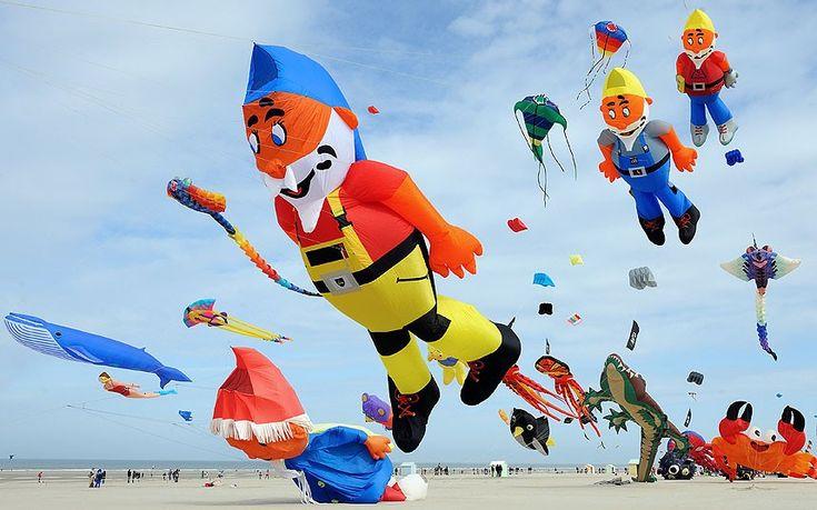 The international kite festival in Berck-sur-Mer, northern France