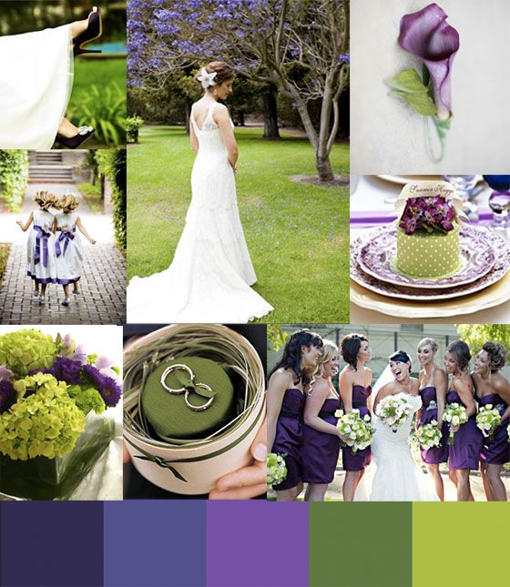Wedding Color Story Green And Purple Love The Colors