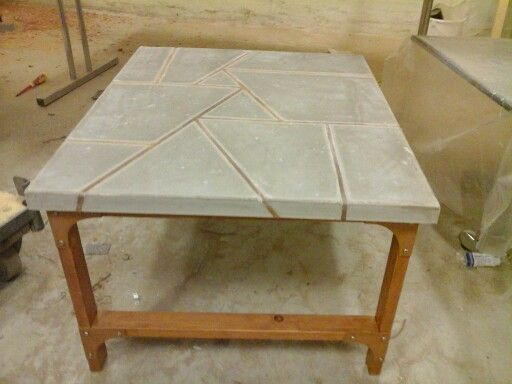 Concrete, leather and reclaimed wood