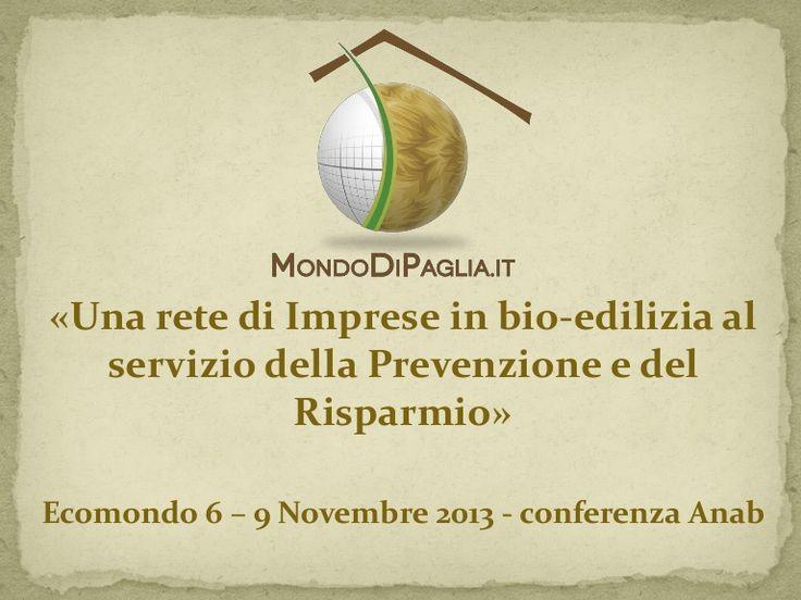 Conferenza di Giulio Giulio Ottavio Battagliarin ad #Ecomondo 2013
