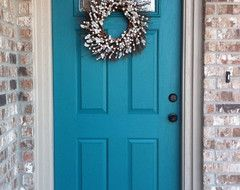 I want COLOR on my front door...something that speaks of the ocean...and goes with the old brick