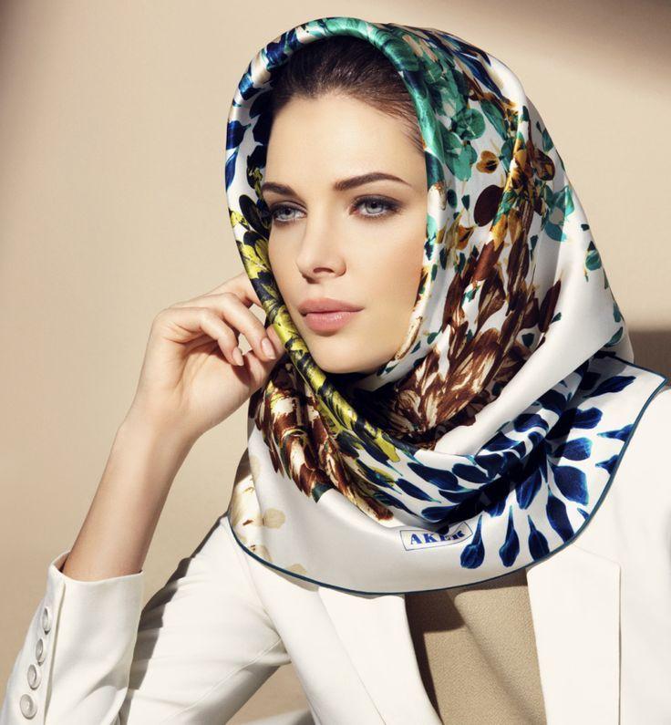 17 best ideas about silk hair scarf on hair