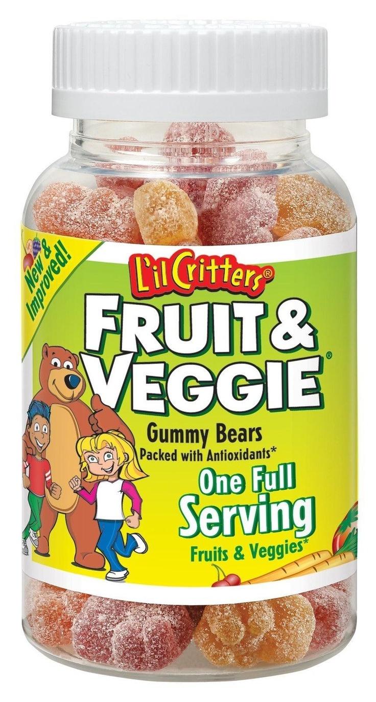 Kẹo Gummy rau quả, 60 viên - Trẻ em