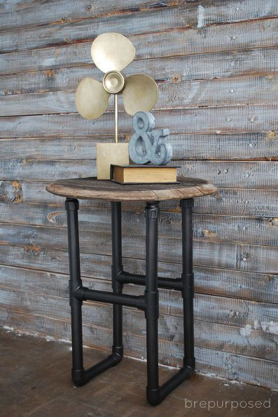 diy pvc pipe table, diy, how to, painted furniture, repurposing upcycling, rustic furniture