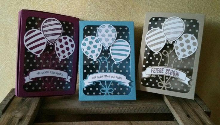 Hallo ihr Lieben, ich habe mir mal die Thinlits Formen Pop Up Ballons hergenommen. Ich bin ja jetzt nicht so der Pop Up Karten Fan, abe...