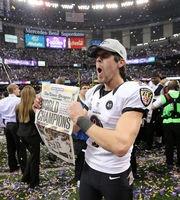 Baltimore Ravens center Matt Birk wins first Super Bowl after 15 seasons 2/4/13