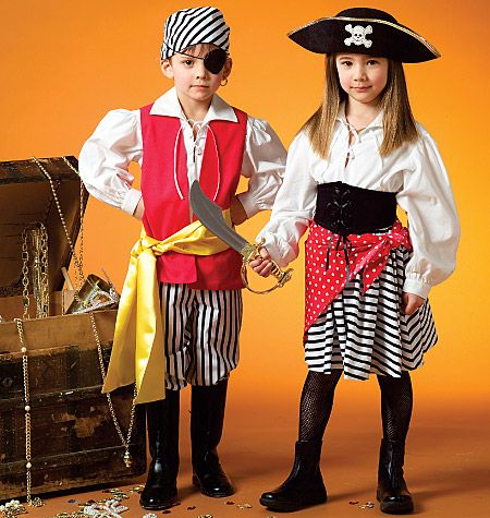 McCalls M4952 | boy & girl pirate costume