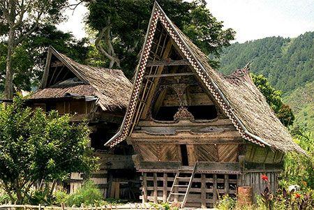 Maison Batak : Lac Toba : Sumatra
