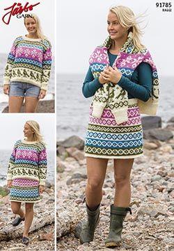 91785 Järbo - tröja och kjol med mönster