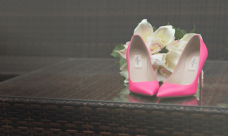 Valentino Wedding Shoes   Artistic wedding photography, engagement photos and portraits   chasephotography.ca