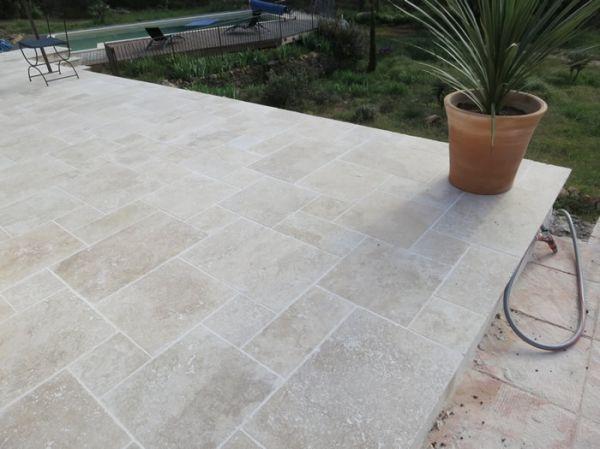 Travertin OPUS4 Multiformat en 12mm MIX PREMIER CHOIX Livraison 3-4 - epaisseur dalle beton maison