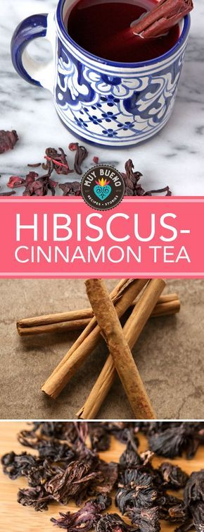 """Hibiscus-Cinnamon Tea. Both my grandmothers drank """"canelita"""" té de canela (cinnamon tea), as well as used the aromatic spice in savory and sweet dishes. After researching, I realized there are surprising health benefits and unique healing abilities associated with this beloved spice. I'll be making this tea daily and serving it with dinner. After all, its not going to hurt, and it tastes delicious. I would recommend drinking this rather than sodas. Serve it cold with honey and a sparkling…"""