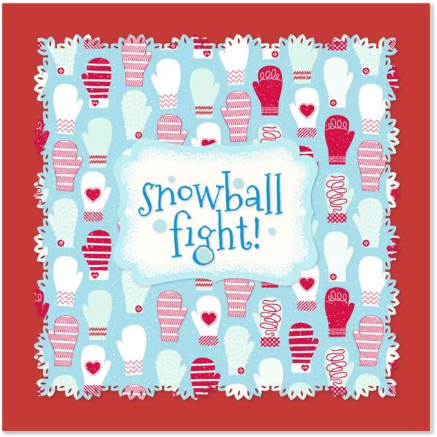 Click to download the Martha Stewart CraftStudio App to make your own Holiday Cards!Crafts Ideas, Invitations Kids, Holiday Cards, Ball Fight, Christmas, Craftstudio App, Martha Stewart, Stewart Craftstudio, Snow Ball