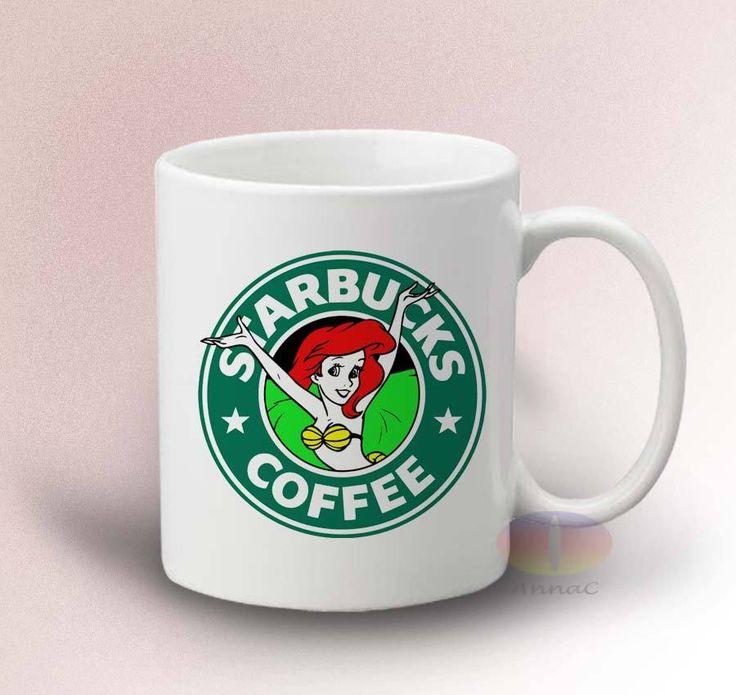 Starbuck Disney ariel mermaid Mug - White 11oz Ceramic Mug