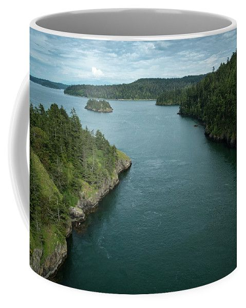 Deception Pass Coffee Mug by Mary Lee Dereske.  Shop maryleephoto.com for fine art prints (framed, canvas, metal, or wood), greeting cards and home decor. 30 day money back guarantee, world wide shipping. #Washington #whidbey #water #sanjuans