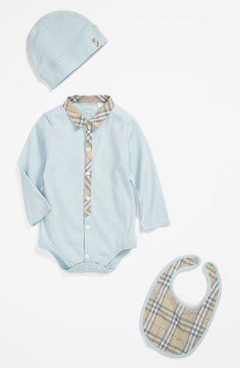 Burberry Bodysuit, Hat  Bib (Baby Boys) | Nordstrom