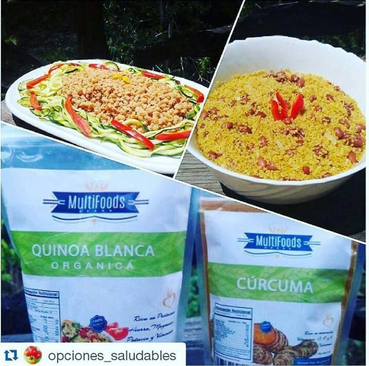 http://on.fb.me/1LKgRA1 Mira las cosas riquiiiisimas que puedes preparar con quinoa y curcuma! #fit #fitness  Con nuestra amiga #chef de #Repost @opciones_saludables with @repostapp ・・・ Les dije que les daría las recetas de estos platos como opciones ricas y fáciles para ustedes del día de ayer.. Gracias @multifoodsrd por mi regalito ........#Quinoa con frijoles rosados, cebolla y #curcuma de @multifoodsrd