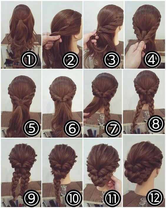 ^ .. ^ Dies ist eine so komplizierte Frisur, aber es ist viel einfacher zu tun, wenn Sie nur die Zeit nehmen und Schritt für Schritt vorgehen