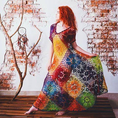 CHART ONLY ergahandmade: Αποτελέσματα αναζήτησης για colorful crochet dress