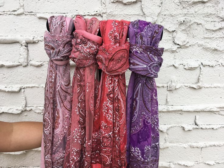 Handmade scarves from Thailand. These scarves feature fringe at the bottom, and sparkle accents throughout. This light and sheer scarf is our best-selling scarf, and is perfect for any season or occas