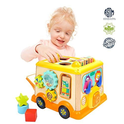 Super Sale Top Bright Activity Cube Toys Baby Wooden Educational Shape Sorter Toys For 1 Educational Baby Toys Toys For 1 Year Old Baby Learning Activities