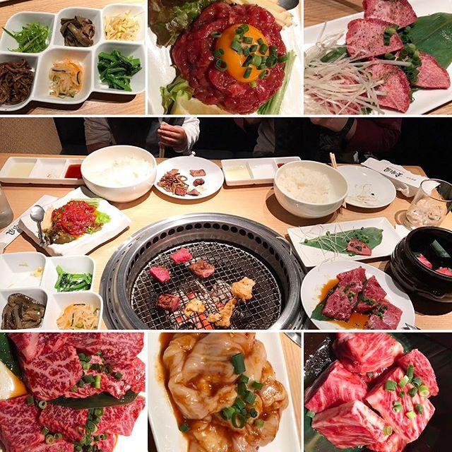 日曜日の夕食〜( ̄∀ ̄) * 渋谷でプライベートで焼肉行くときはココにまず電話🤙 * 最近ずっと断られてたのに、日曜日にやっと入れました(о´∀`о)💕 * 全てのバランスが良いお肉屋さん✨ * #tokyo #shibuya #yakiniku  #焼肉 #金剛園 #肉 #渋谷焼肉 #foodstagram #nikustagram  #delicious #yammy #fanny #love  #niku #肉女子 #肉食女子  #上タン塩 #ユッケ #ナムル #カルビ #ロース #ホルモン #中落ち #息子達は #大ライス #昔話ごはん