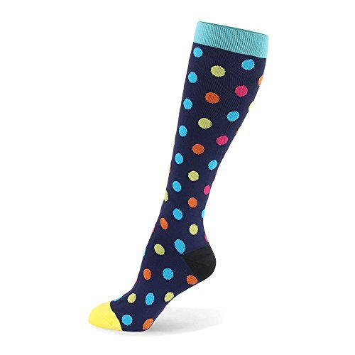 Graduated Compression Socks for Women & Men - Compression Athletic Socks for Running Crossfit Travel- Suits Nurse Maternity Pregnancy Shin Splints (Colorful Dot S/M)