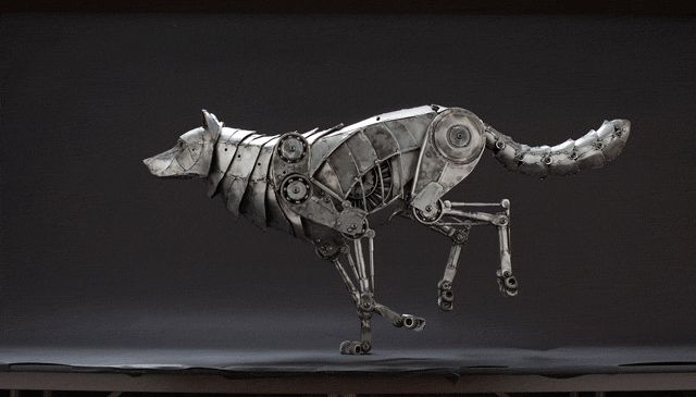 Recycled Metal Steampunk Sculptures by Andrew Chase http://designwrld.com/recycled-metal-sculptures-by-andrew-chase/