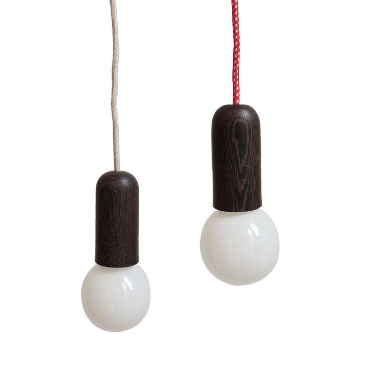 Lámpara Hog con cable de tela. #diadelpadre www.solsken.com.ar