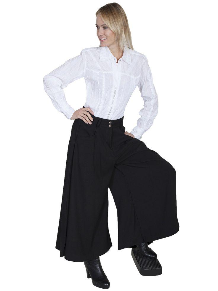 Victorian Costume Dresses & Skirts for Sale Farmhouse Split Skirt in Black $88.00 AT vintagedancer.com