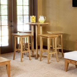 Teak Bistro Bar Set - Westminster Teak Outdoor Furniture. These feel a little bit asian and would go with the table.