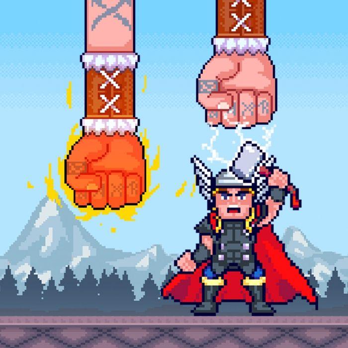 Viking King является быстрый темп игры аркада, в которой игрок пытается избежать гнева Одина. Всеотец ломает вниз кулаки, чтобы убить смертных, и он идет дождь вниз лед и огонь на них. Но, к счастью, эти шведские язычниками выкованы в Валгаллу молотом сам Тор и таким образом они могут проворно избежать атак.  Источник: http://games-topic.com/126-viking-king.html