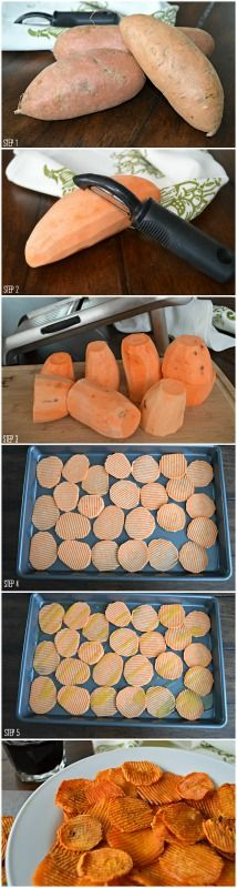 Sweet potatoes are so good and versatile. Love them as chips! Easy sweet potato chips... super food.