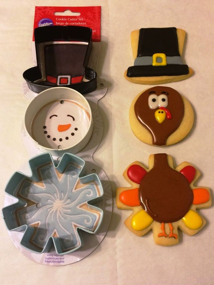 CookieD-oh: Deconstructed Thanksgiving Turkey Sugar Cookies