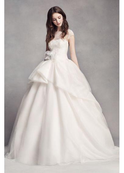 White by Vera Wang Lace Illusion Wedding Dress  VW351315